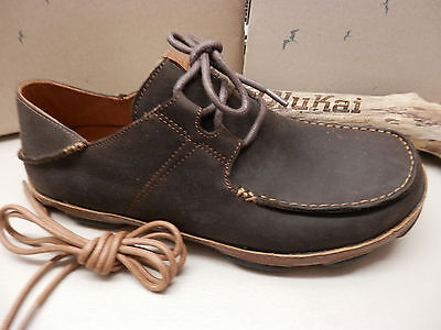 ae386e28cf OLUKAI MENS SHOES Ohana Lace Up Nubuck Dark Wood Toffee Size 9 ...