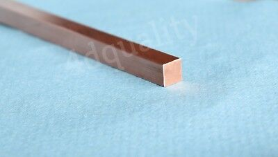 10mm x 10mm Copper Solid Square Bar  bus bar all lengths