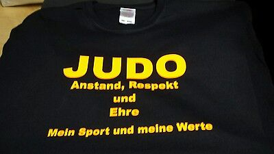 Judo T Shirt schwarz Größe 164 Fruit of the Loom