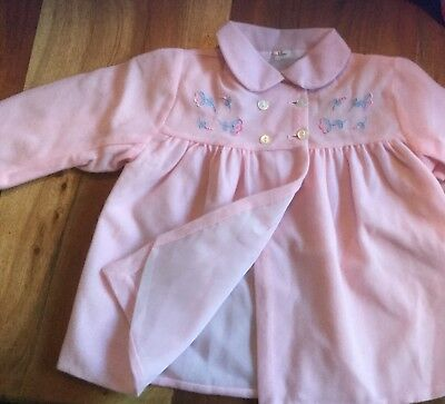 """Vintage Baby Girls Pink Coat 1950""""s / 1960's Beautiful Baby Jacket Rare & Pretty"""