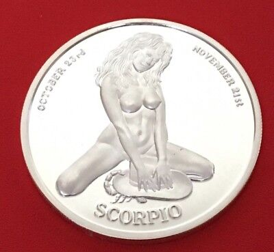 Connoisours Club Limited Edition 1 Oz Silver Round: Scorpio