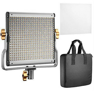 480LED 3200-5600K Dimmable Bi-color Bracket Light Studio Kit Durable Metal Frame
