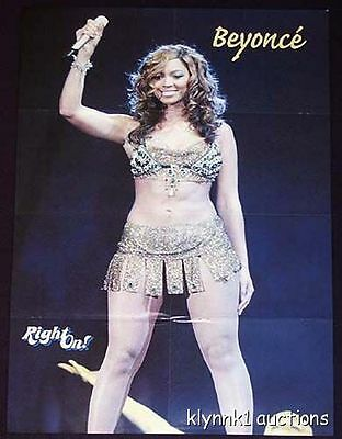 Beyonce Poster Magazine Centerfold Collectible 224B Usher  is on the back