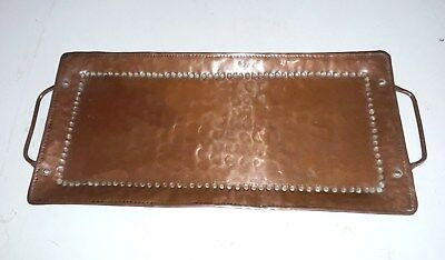 Arts And Crafts Hammered Copper Tray Newlyn School John Pearson Signed