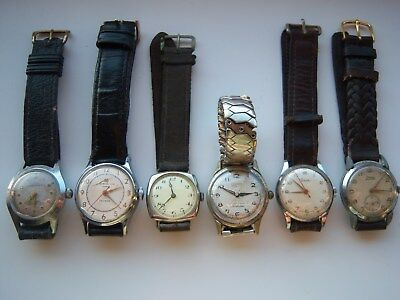 Job Lot Of Vintage Watches 40S/50S Art Deco Spares Or Repair