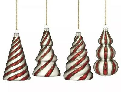 Marquis by Waterford Candy Cane Tree Ornaments Set of 4 New Sealed NIB $59.00