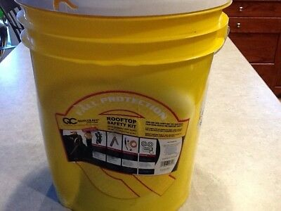 New--Qualcraft--25Ft Roof Top Safety Kit Bucket..