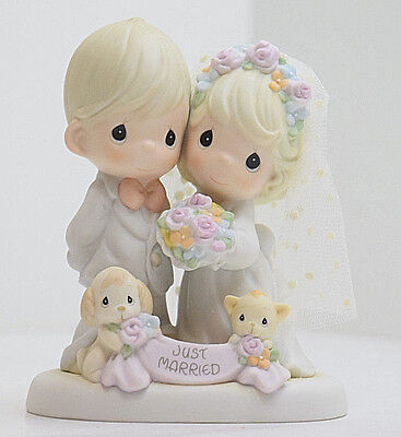 """Precious Moments Till the End of Time Figurine Just Married #4001653 - 5 1/4"""""""