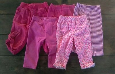 Baby Girl Pants Lot Of 5 Pair Size 9 Months Pre Owned Great Shape
