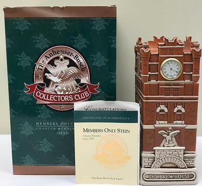 "1995 Anheuser Busch Members Only Stein,  "" Brew House Clock Tower "",New in box"