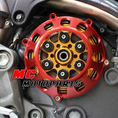 For Ducati Billet Dry Clutch Cover Red Supersport 900 750 1000 SS CC27