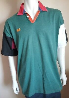 CANTERBURY vintage mens size XXL polo shirt rugby jersey