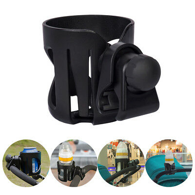 Universal Black Baby Stroller Parent Console Organizer Cup Holder Buggy