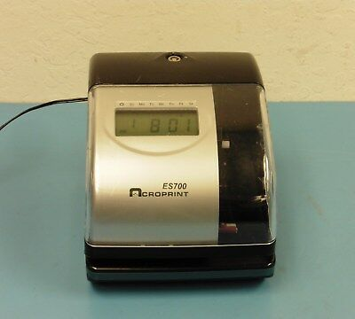 Acroprint ES700 Time Recorder, Time Stamp, Number Machine, & Time Totalizer