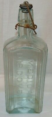 Antique Dr. Kennedy's Medical Discovery, Roxbury Mass. Bottle with Original Stop