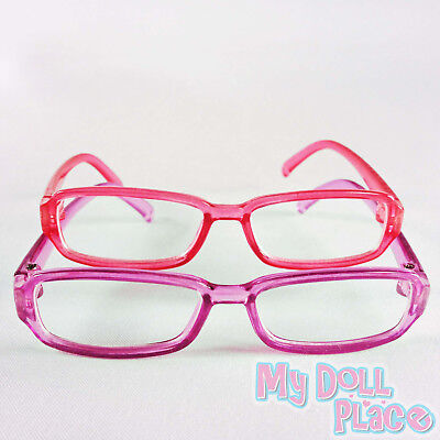 """Doll Glasses 2pc Set Pink & Purple Eye made for 18"""" American Girl Doll Clothes"""