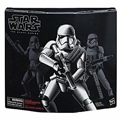 First Order Stormtrooper with Gear Actionfigur, Star Wars Black Series Exclusive