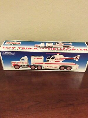 1996 Servco Toy Truck and Helicopter. New in Box.
