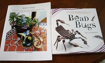 2 Craft Beading Books Bead Bugs & Bead N' Bugs Cute & beautiful butterflies etc