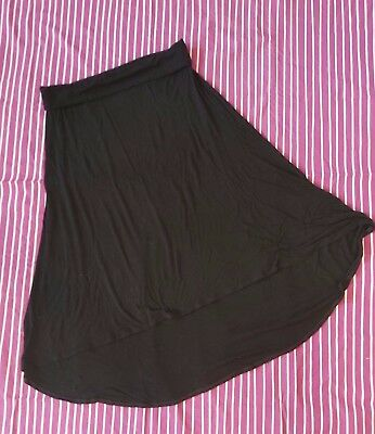 Old Navy Maternity Hi-Low Maxi Skirt Black LargeJersey Soft
