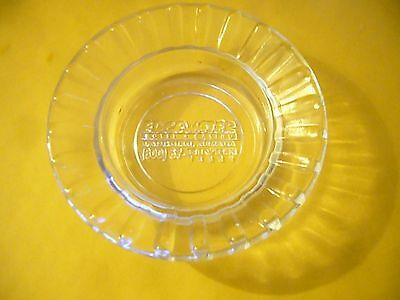 Edgewater Laughlin , Nevada Vintage Clear Glass Logo Ashtray!