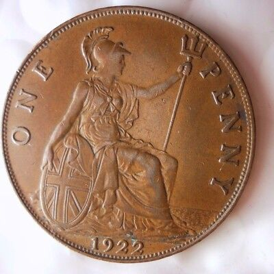 1922 GREAT BRITAIN PENNY - HIGH GRADE  - Strong Strike - Great Coin - Lot #N20
