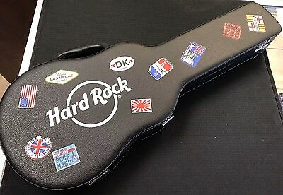 Hard Rock Guitar Poker Casino Set With Dice, Cards, & Chips