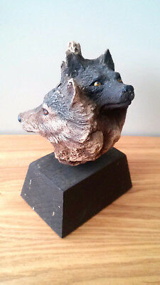 AMAZING 1990 Rick Cain The Pack Limited Edition Wolf Sculpture 345/2000 !