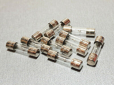 10A Glass Fuse M205 5x20mm Slow Blow 250V Pack of 10
