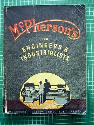 1949 McPHERSONS CATALOGUE for ENGINEERS & INDUSTRIALISTS - Tools & Machinery