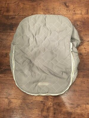 JJ Cole Gray Graphite Quilted Car Seat Cover