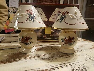 Lenox Winter Greetings Cardinal Tea light lamp set