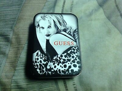 Vintage 1993 Drew Barrymore Guess Special Metal Tin Box Case WoW