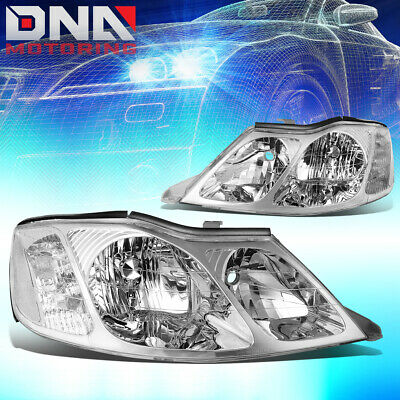 For 00-04 Toyota Avalon Chrome Housing Clear Corner Headlight/lamp Replacement