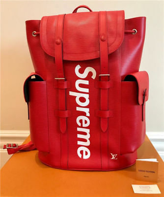 -Authentic Louis Vuitton x SUPREME Christopher Backpack Bag'