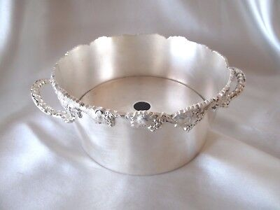 Vintage Stokes Silver Plate Shallow 2- Piece Ice Holder