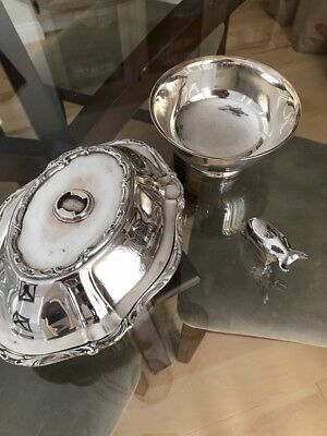 Gorham EP Sterling Silver Bowls Dansk Paperweight All 3 Pieces