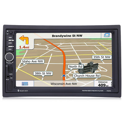 "7020G 7"" 2 Din Car Audio Stereo MP5 Player Video Remote Control GPS Navigation"