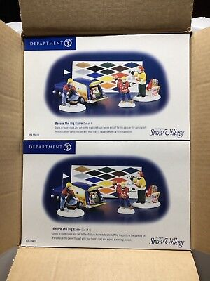 Dept 56 Snow Village® BEFORE THE BIG GAME Set of 4 - Brand New Still In The Case