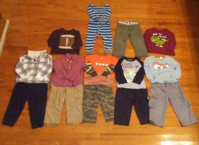 Lot of 14 Baby Toddler Boys Fall Winter Size 24 months and 2T clothes