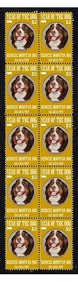 Bernese Mountain Dog Strip Of 10 Mint Ckc Dog Stamps