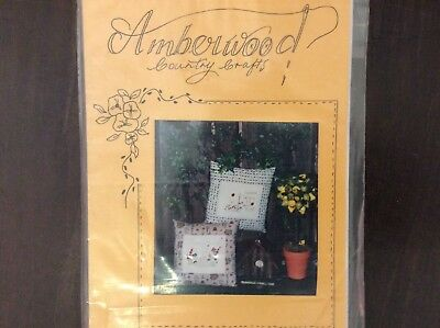"""CUSHION PATTERN """" HONEYBEES AND LADYBIRDS""""  featuring STITCHERY"""