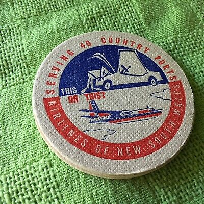 """Collectable drink coaster - """"AIRLINES OF NEW SOUTH WALES"""" NEW PRISTINE CONDITION"""