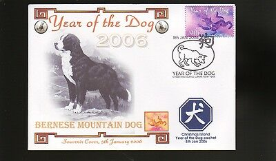 BERNESE MOUNTAIN DOG STAMP COV, 2006 YEAR OF THE DOG b