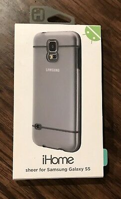 New iHome Samsung Galaxy S5 Sheer Ergonomic Grip Full Access Cellphone Case