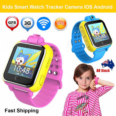 Kids Children SOS 3G Safe GPS Location Touch Screen Smart Watch Android