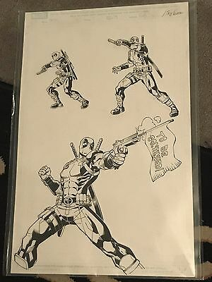 Marvel DEADPOOL & CABLE Split Second #2 Page 15 Original Art REILLY BROWN Signed