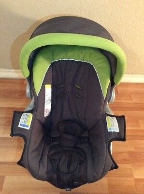 Combi Connections Baby Car Seat Cover Cushion Canopy Set Gray Green Silver
