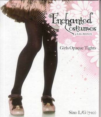 Girl Size L 7-10 Or Xl 10-13 Black Opaque Tights Buy 2 Get 1 Free By  Leg Avenue