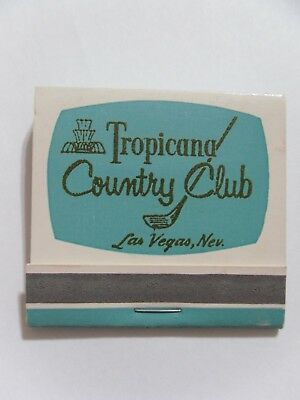 Las Vegas Tropicana Casino Club Hotel matchbook matchcover